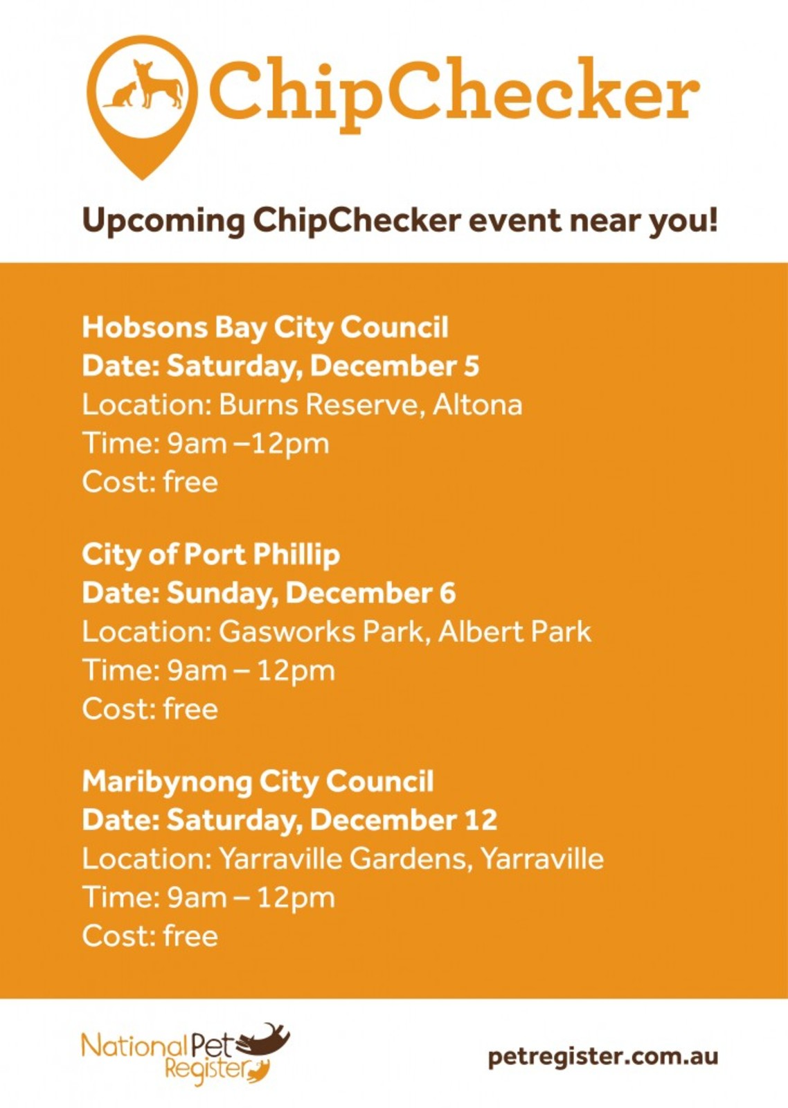2015_National Pet ID Month_ChipChecker Dates